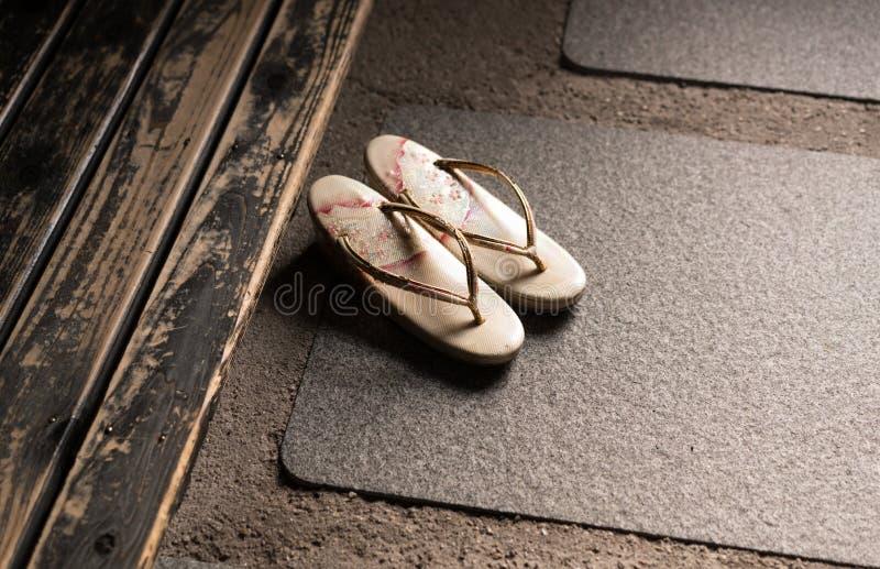 日本拖鞋 免版税库存图片