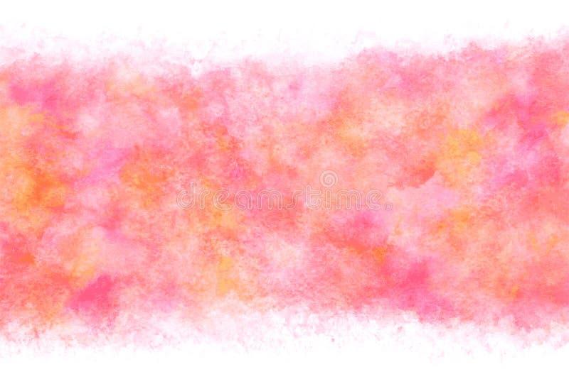 日本新年桃红色水彩摘要或难看的东西葡萄酒手油漆背景,传染媒介例证 向量例证