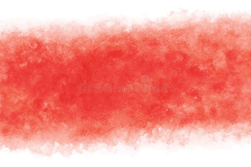 日本新年红色水彩摘要或难看的东西葡萄酒手油漆背景,传染媒介例证 皇族释放例证