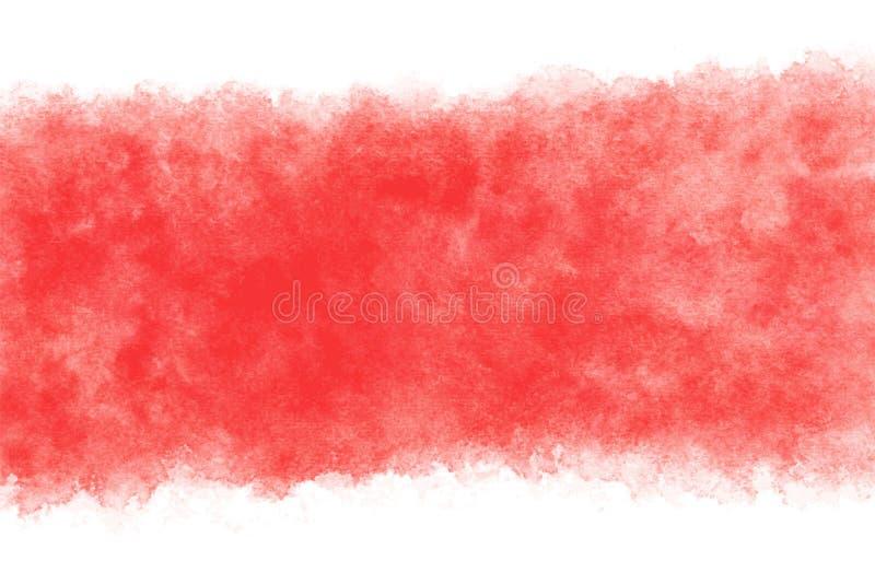 日本新年红色水彩摘要或难看的东西葡萄酒手油漆背景,传染媒介例证 向量例证