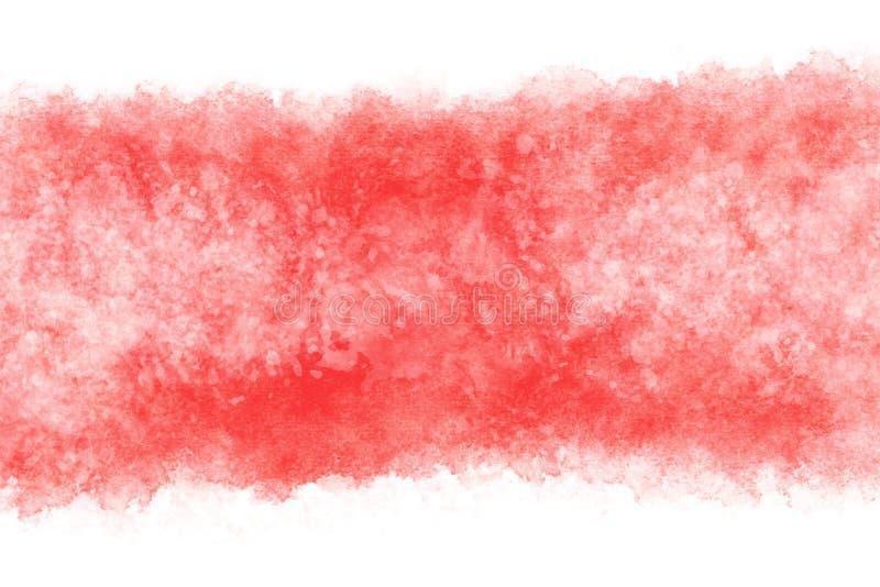 日本新年红色白色水彩摘要或难看的东西葡萄酒手油漆背景,传染媒介例证 库存例证