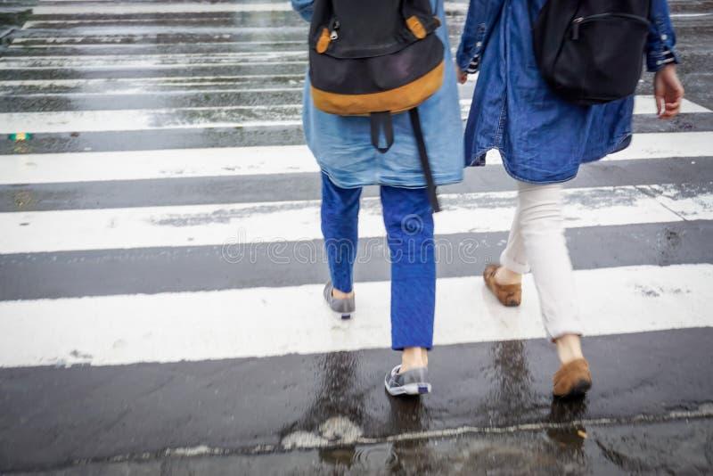 日本旅行人通勤的概念行动迷离 免版税库存图片