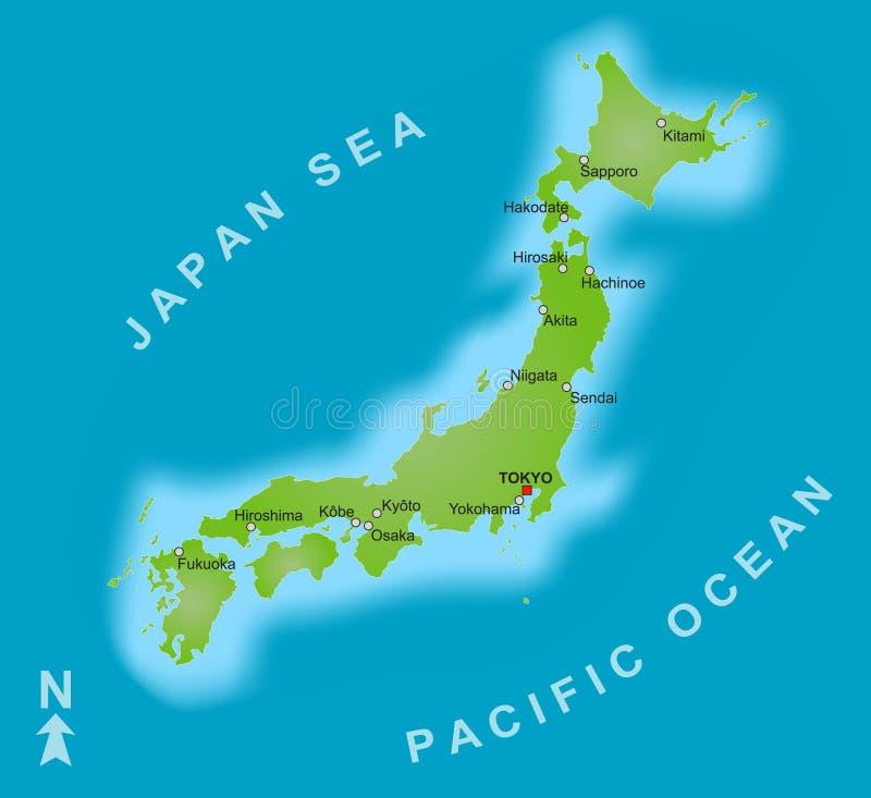 日本映射 皇族释放例证