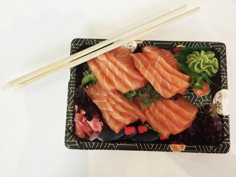 日本未加工的三文鱼 免版税库存照片