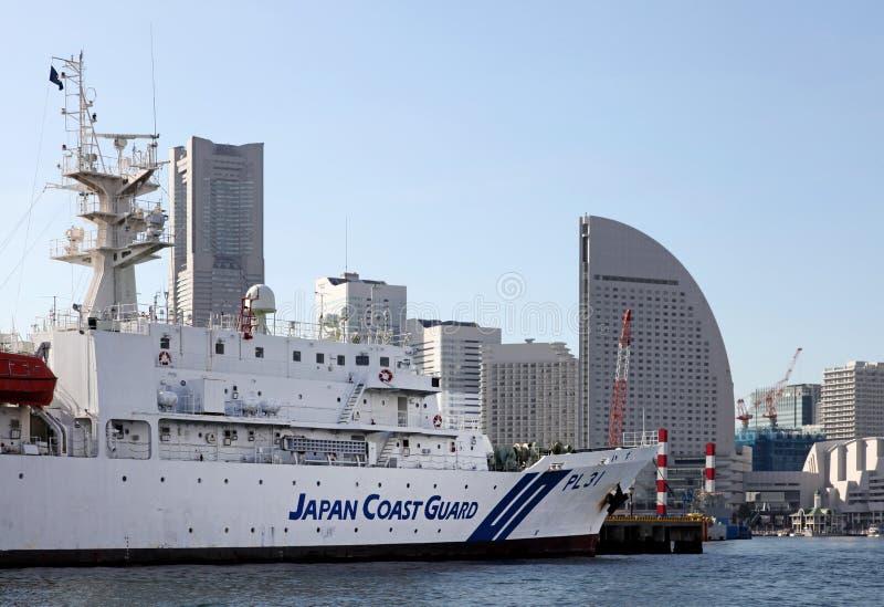 日本海岸卫队小船 免版税库存照片