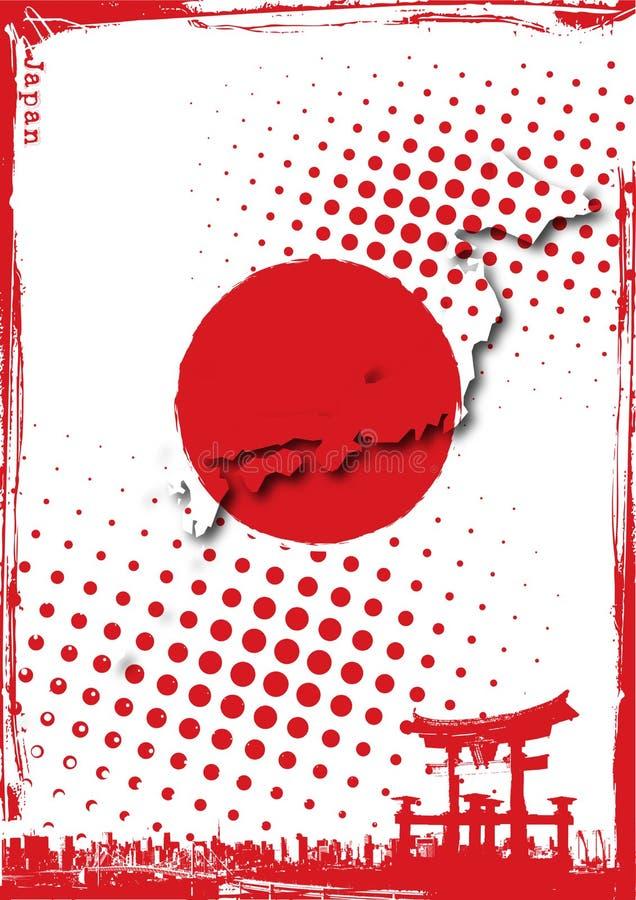 日本海报 库存例证