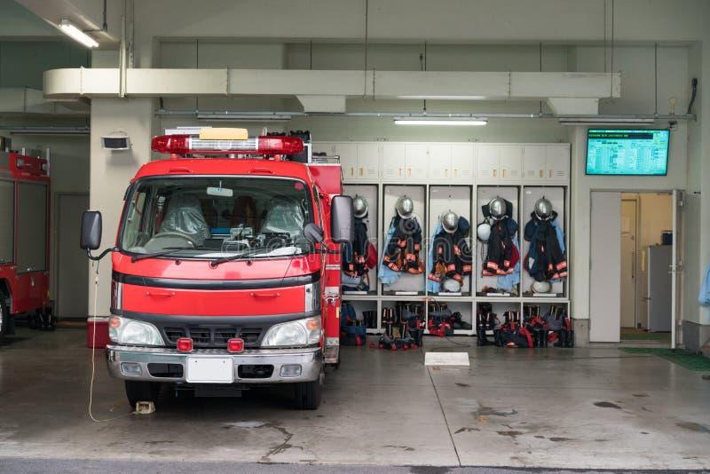 日本消防队 库存照片