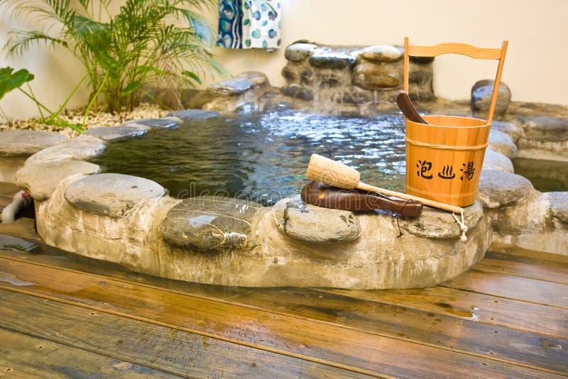 日本温泉样式 库存照片