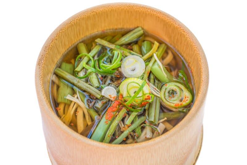日本烹调大酱汤 免版税图库摄影