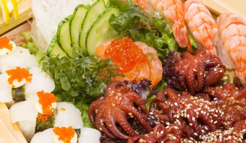 日本烹调生鱼片 库存照片