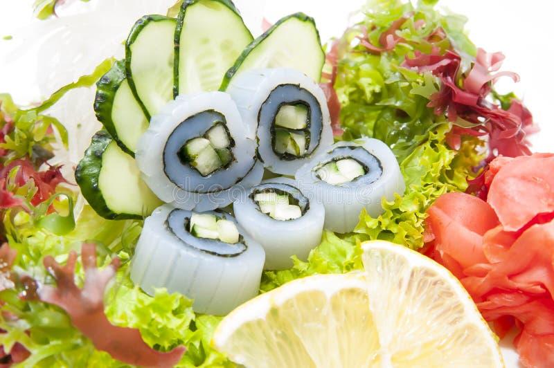 日本烹调生鱼片 免版税图库摄影
