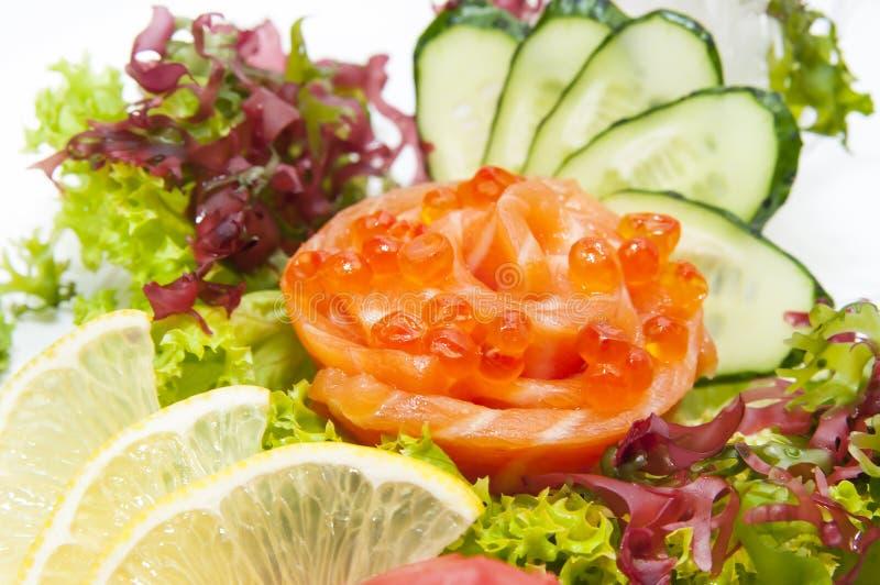 日本烹调生鱼片 免版税库存图片