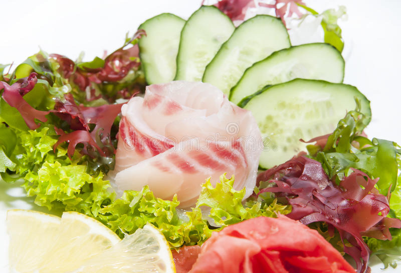 日本烹调生鱼片 库存图片
