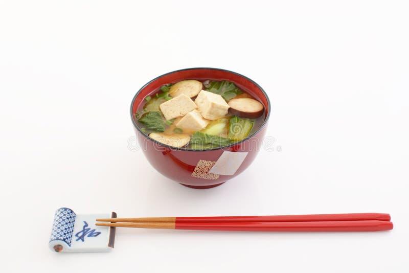 日本烹调,大酱汤 库存图片