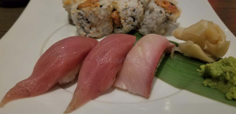 日本牌照寿司 免版税库存图片