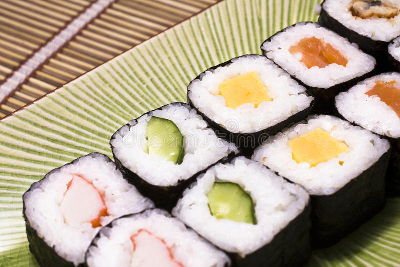 日本牌照寿司 免版税库存照片