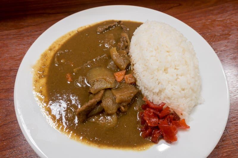 日本猪肉咖喱 库存照片