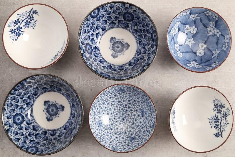 日本瓦器-碗-图象 库存照片