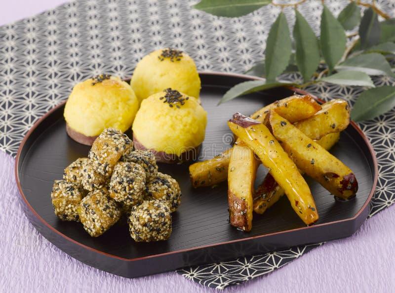 日本甜点 库存照片