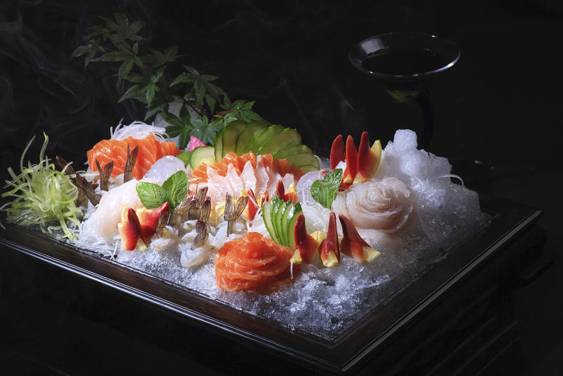 日本生鱼片 图库摄影