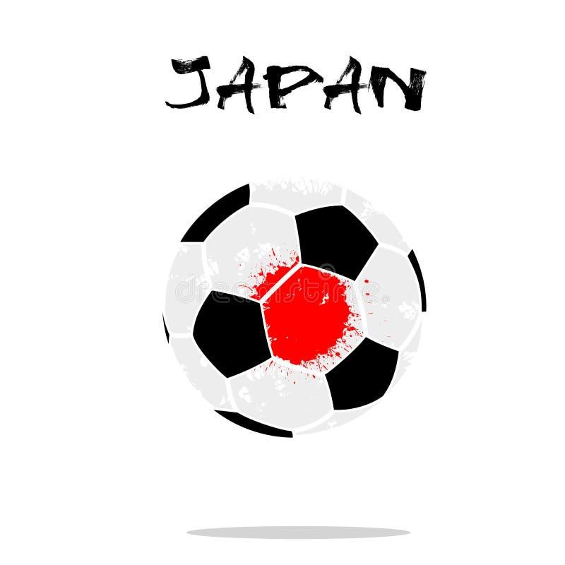 日本的旗子作为一个抽象足球 库存例证