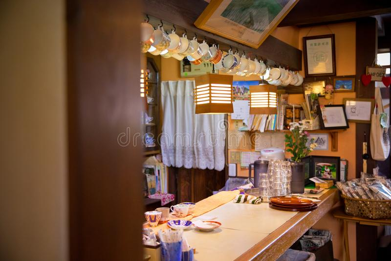日本的白川町 库存照片