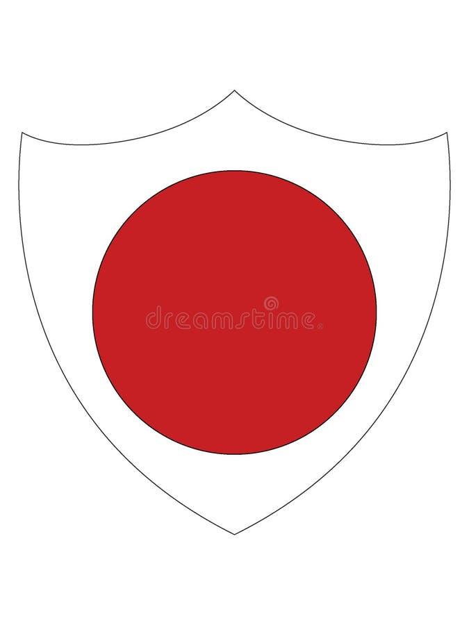 日本的盾形的旗子 皇族释放例证