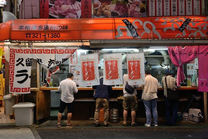日本神户街餐馆外部 免版税库存照片