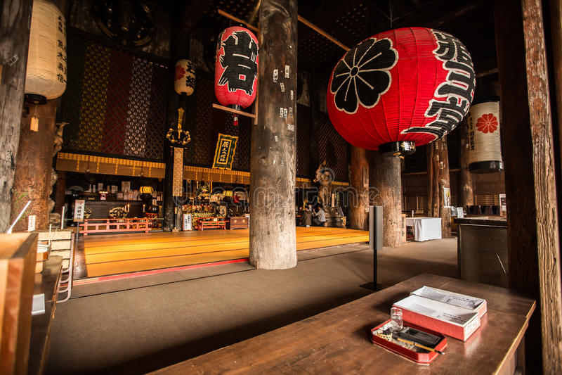 日本禅宗寺庙,吉野山内部  免版税图库摄影