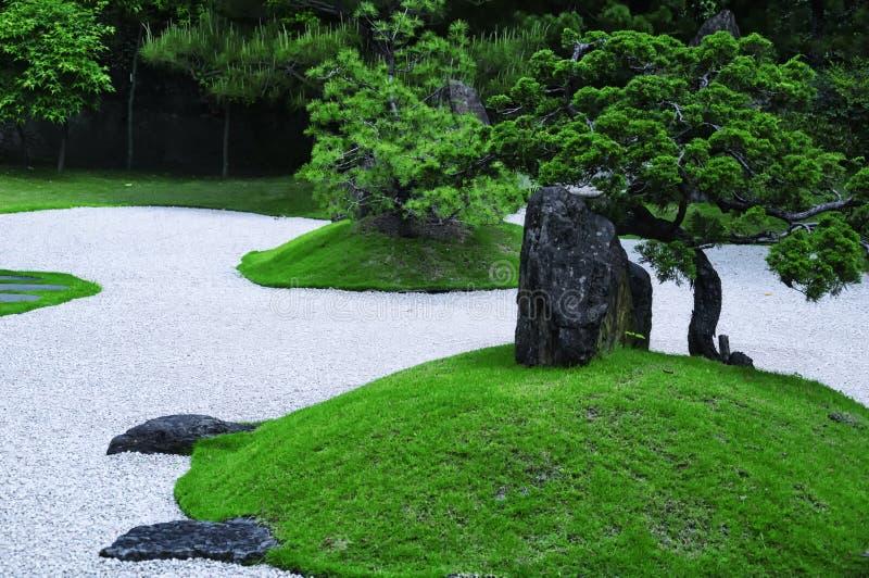 日本禅宗庭院台北台湾 免版税库存图片