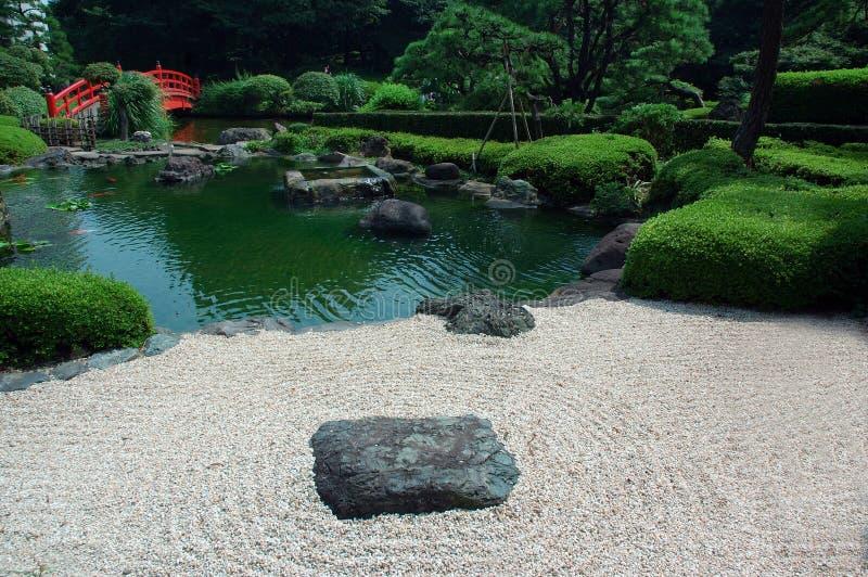 日本禅宗庭院 库存图片