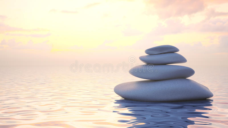 日本禅宗石头 向量例证