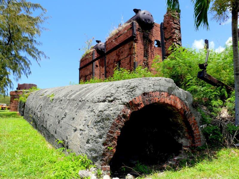日本糖厂废墟,花名册 免版税库存图片