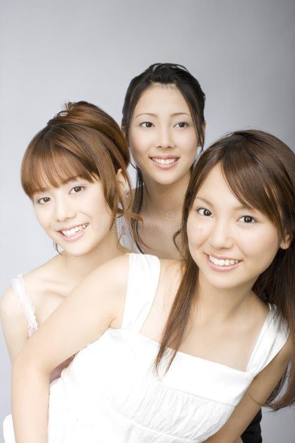 日本纵向妇女 库存照片