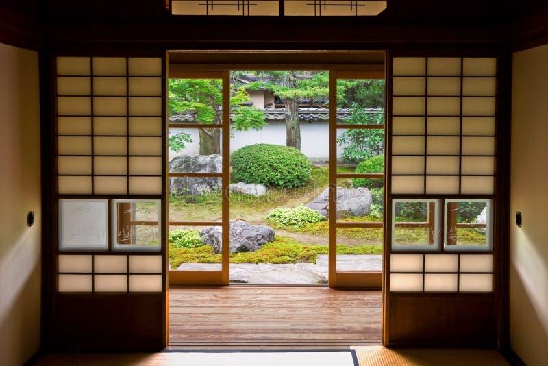 日本老空间扯窗tatami 库存照片