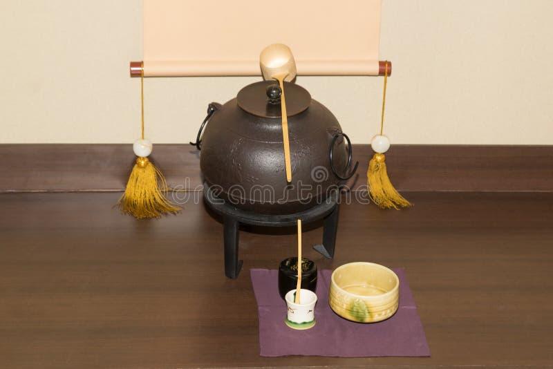 日本老茶制造商 免版税库存图片