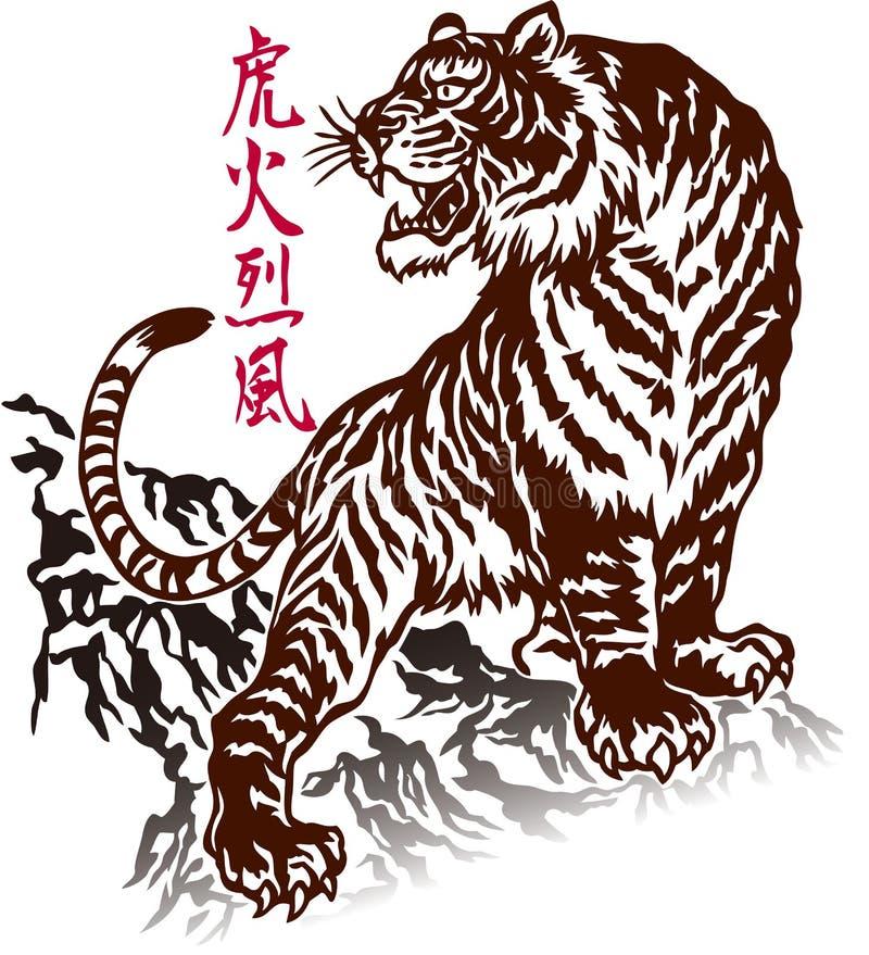 日本老虎 向量例证