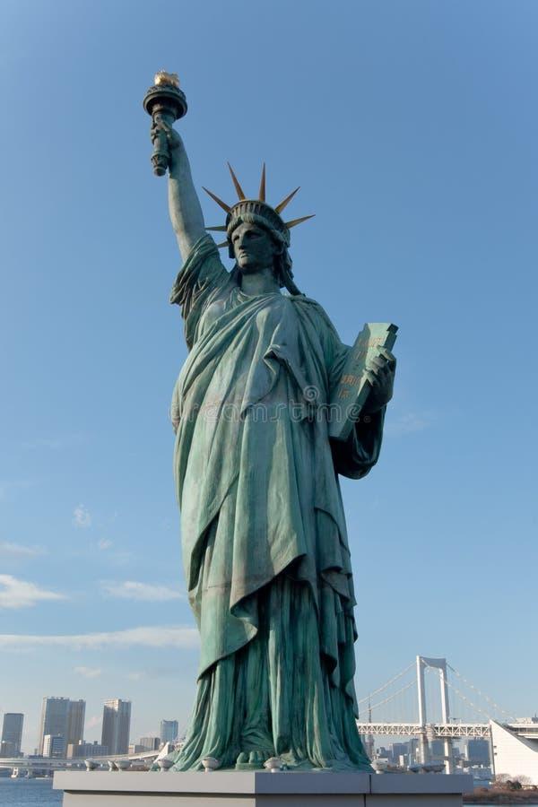 日本自由雕象东京 免版税库存图片