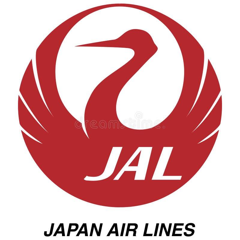 日本航空商标象 库存例证