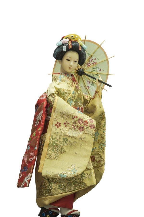 日本艺妓玩偶 免版税库存照片