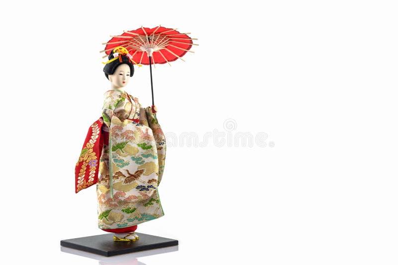日本艺妓玩偶 库存照片