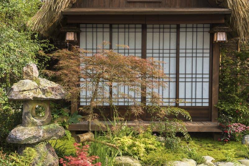 日本花园 免版税库存图片