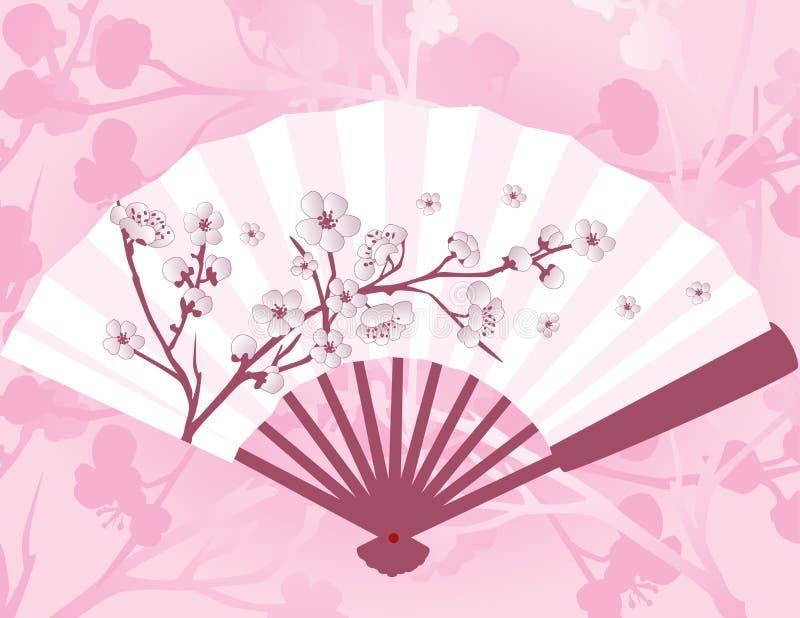 日本花爱好者 库存例证
