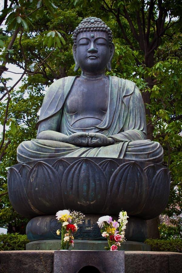 日本菩萨雕象 库存图片