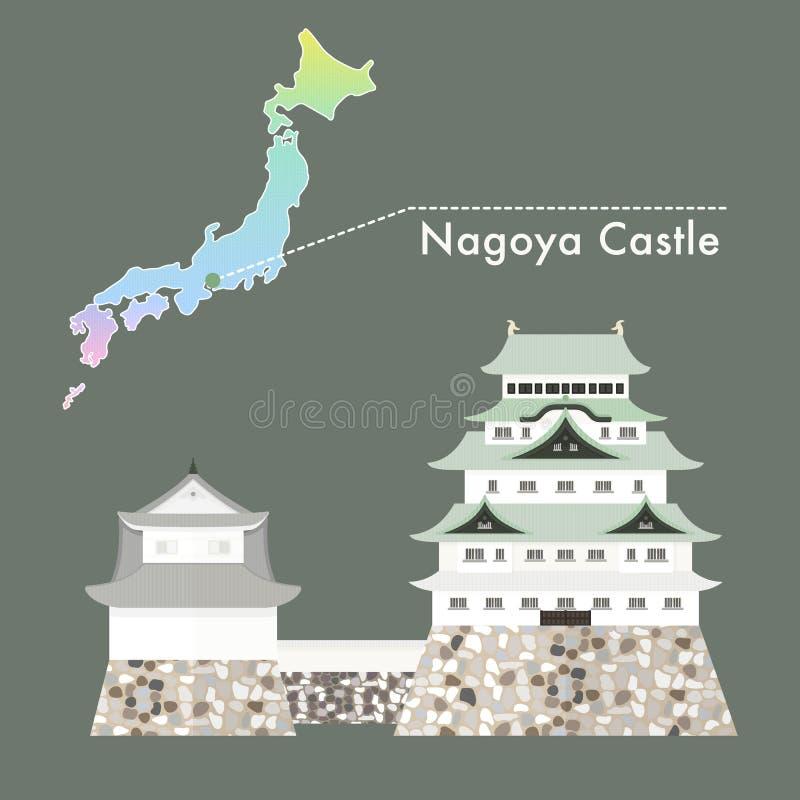 日本著名城堡传染媒介-名古屋城堡 皇族释放例证