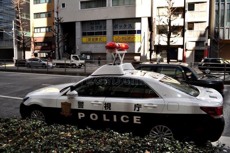 日本警车 库存照片