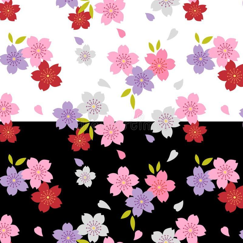 日本逗人喜爱的樱花样式 皇族释放例证