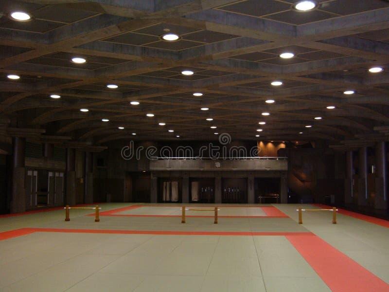 日本道场内部 免版税库存照片