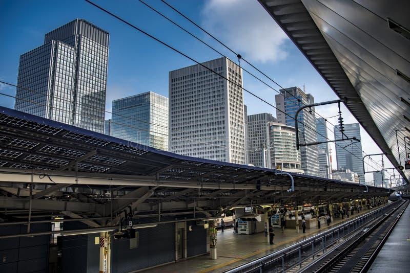 日本铁路在东京,日本 免版税库存照片