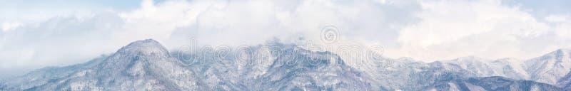 日本阿尔卑斯全景 库存图片
